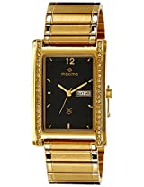 Maxima Formal Gold Analog Black Dial Men's Watch - 19643CMGY