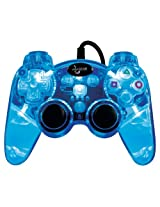 Playstation 3 Lava Glow Wired Controller without Rumble - Blue