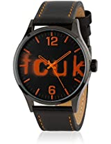 Fc1096Oolgn Orange/Black analog Watch FCUK