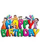 Themez Only Paper - Chhota Bheem, Multi Color (Happy Birthday Banner)