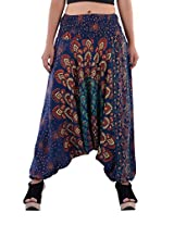 Indi Bargain Cotton Women's Afghani Trouser (315Green_Green_Free Size)