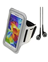 Sumaccn Silver Workout Running Armband Pouch Case