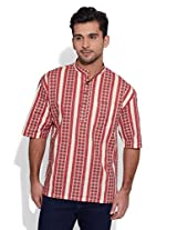 Very Me Men's Mid Thigh Cotton Kurta