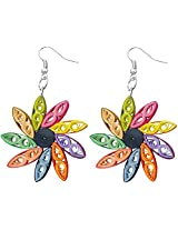 Designer's Collection Paper Quilling Ear Rings for Women-DSERB025