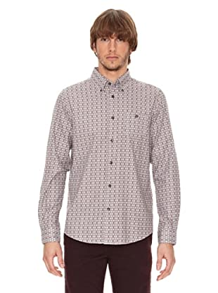 Ben Shermann Camisa Geométrico Fox (Marrón / Blanco)