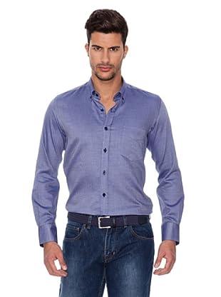 Caramelo Camisa Clásica (Azul Tinta)