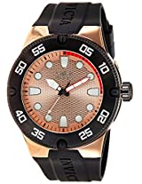Invicta Analog Gold Dial Men's Watch - 18025