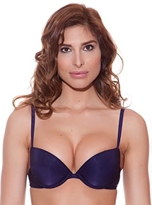 Minerva Sujetador Push up Shiny (Azul)