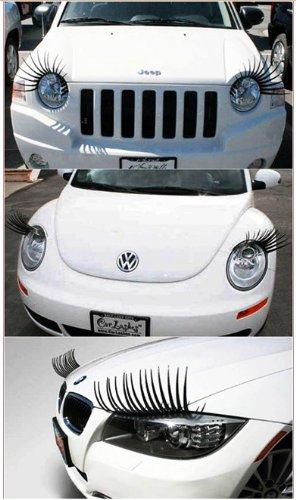 1セット ファションな 3D 車ヘッドライト まつ毛