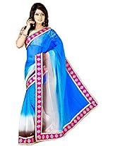 Indian Blue Bollywood Party Wear Saree Pakistani Style Wedding Ethnic Sari