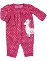 Carter's Baby Girls' Microfleece Jumpsuit - Hot Pink Dot - 18 Months