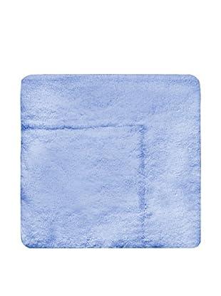 Manterol Alfombra Baño Rizo Algodón Tacto Seda (Azul)