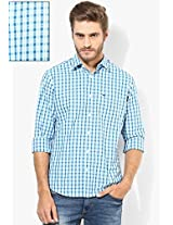 Blue Checks Regular Fit Casual Shirt Peter England