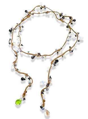 Valero Pearls 200360 - Collar de mujer con perla cultivada de agua dulce, 110 cm