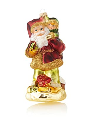 Krebs Glas Lauscha Hungarian Santa with Child