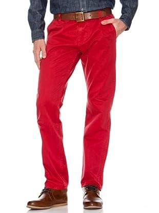 Dockers Pantalón Alpha de Color (Rojo)