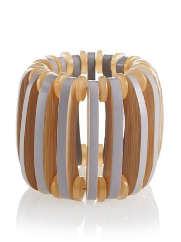 MARNI Women's Meteorite Wooden Stretch Bracelet