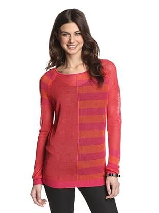 525 America Women's Mixed Media Stripe (Hot Sauce Combo)