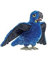 Folkmanis Blue Macaw Hand Puppet Plush