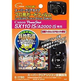 【クリックでお店のこの商品のページへ】Amazon.co.jp|ETSUMI 液晶保護フィルム プロ用ガードフィルム Canon PowerShot A2000IS/SX110IS用 E-1780|カメラ・ビデオ通販