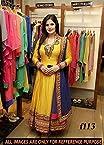 Zarine Khan bollywood Yellow Designer Anarkali Suit/f113