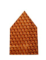 Navaksha Orange Squares Design Pocket Square