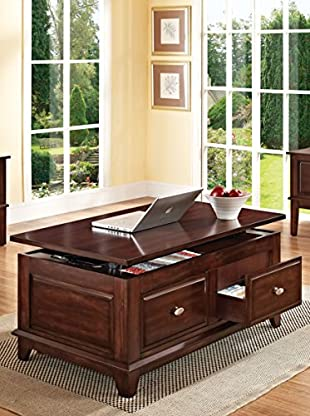 ACME Furniture Coffee Table With Lift Top, Walnut
