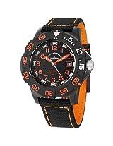Zeno Black Dial Black Fabric Strap Men'S Watch - Zeno-6709-515Q-A15