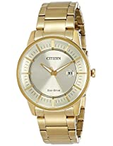 Citizen Analog Gold Dial Men's Watch - AW1262-54P