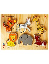 Skillofun Fun ID - Wild Animals (Raised), Multi Color