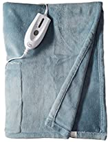 Serta Cuddler Electric Heated Wrap with Pockets, Sapphire