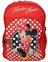 Minnie School Bag Fashion with Pouch, Multi Color (18-inch)