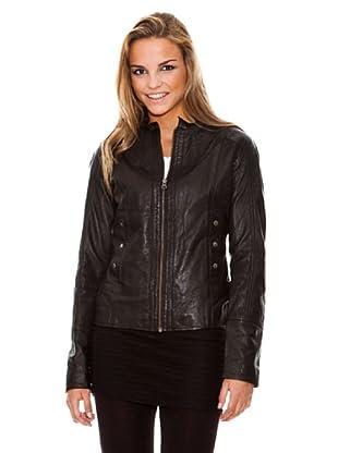 Maze Zip jacket Mujer (Negro)