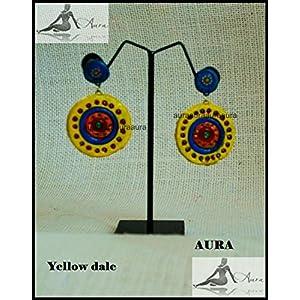 AUrA-EArTH Yellow dale Earring