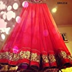 Ethnicdresses Luminous Gherdaar Lehenga - Red