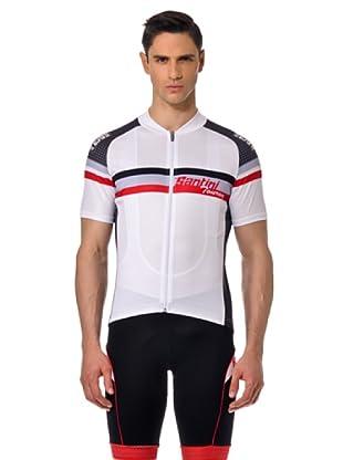 Santini Maglia Bike (Blanco / Rojo / Negro)
