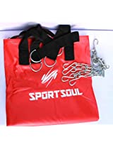 """SportSoul Heavy Punching Bag Unfilled with Steel Chain, size - 30"""" or 2.5 ft"""