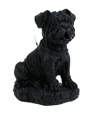 D.L. & Co. English Bulldog Candle, Black
