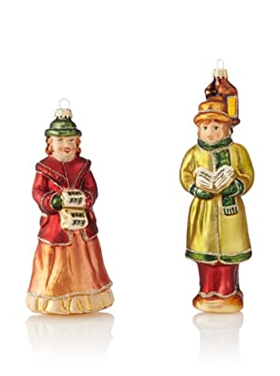 Krebs Glas Lauscha Set of 2 Victorian Carolers
