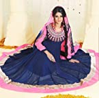 Jennifer Winget(Kumud) Blue Colour Bamberg Salwar Kameez