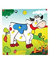 Skillofun Theme Puzzle Standard Cow Knobs, Multi Color