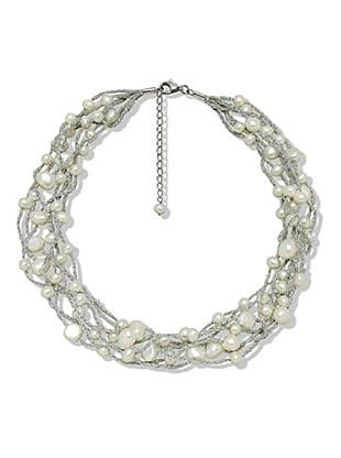 Valero Pearls 60201080 - Collar de mujer de plata con perla cultivada de agua dulce, 47 cm