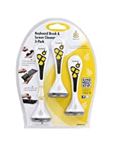 BuzzBrush 259WH-05 Keyboard Brush & Screen Cleaning Kit 3-Pack