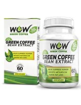 Wow Green Coffee Bean Extract Weight Loss Supplement (Pack of 60 Capsules)