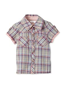 TroiZenfantS Baby Plaid Shirt (Grey)