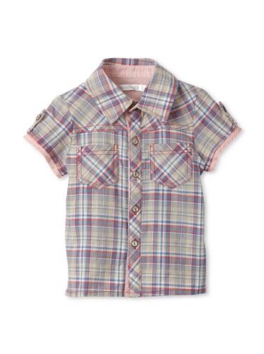 TroiZenfantS Baby Plaid Shirt (Grey)