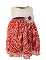 Faye Emb Ivory & Red Printed Dress 12-18Months