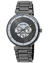 August Steiner Men's AS8102BK Quartz Multifunction Gun Bracelet Watch