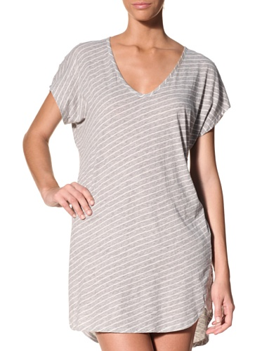 Nicole Miller Women's Petal Ombre Sleep Shirt (Heather Stripe)