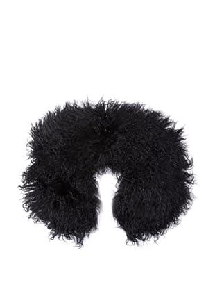 Pink Tartan Women's Fur Collar (Black)